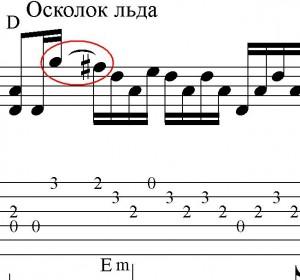 осколок льда ноты