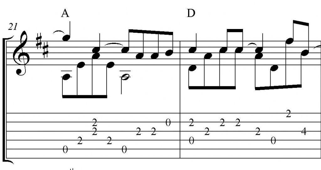 Зимний сон: ноты для гитары