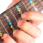 наклейки нот на гитаре