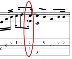 13-й такт ноты для гитары