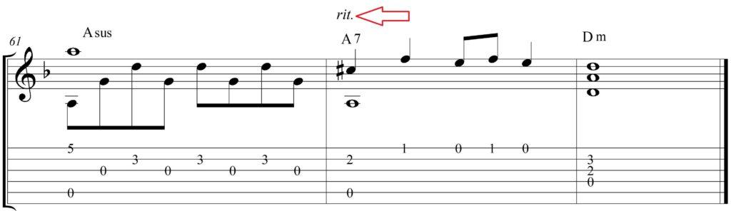 Ritenuto-v-notah-pesen-dlya-gitary