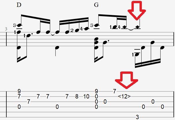 Табы для гитары и ноты к песне Успенской – К единственному нежному