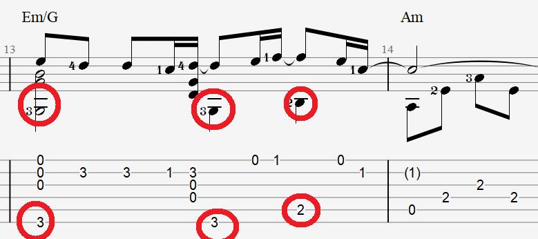 табы и ноты для гитары песни Булановой – Не плачь