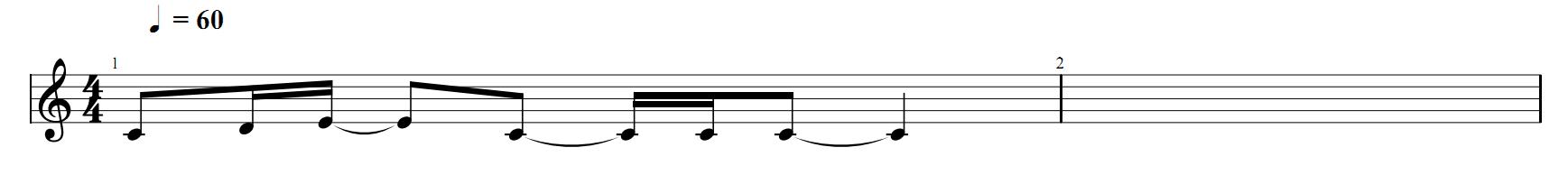 Запись нот для гитары 1