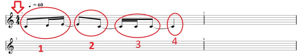 Запись нот для гитары3