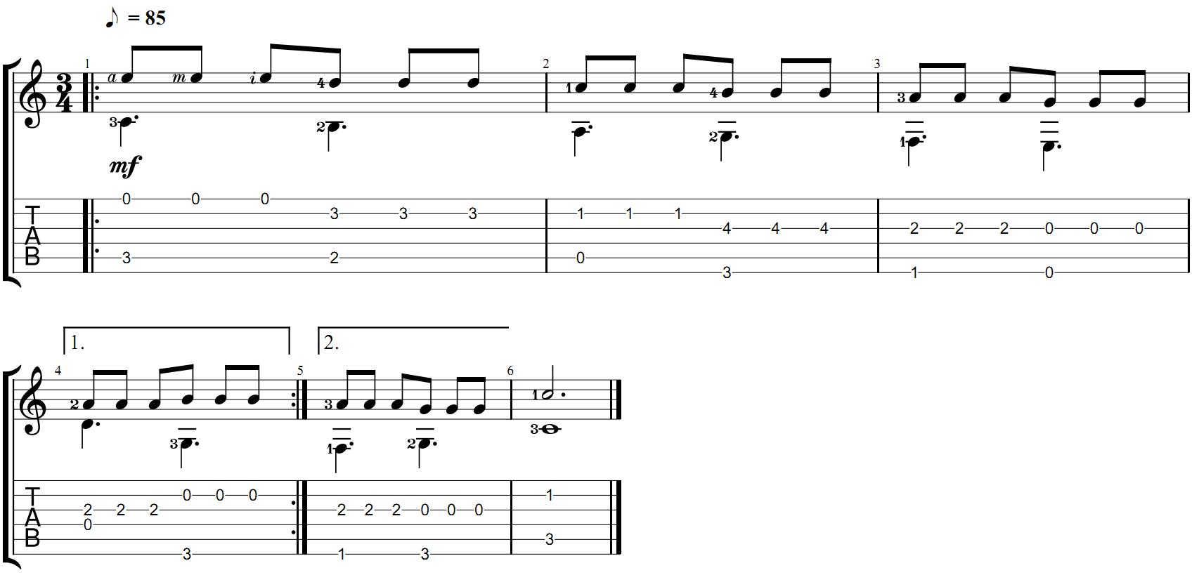 Табы для гитары упражения для развития навыков фингерстайла
