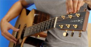 настройка гитары в нестандартный строй