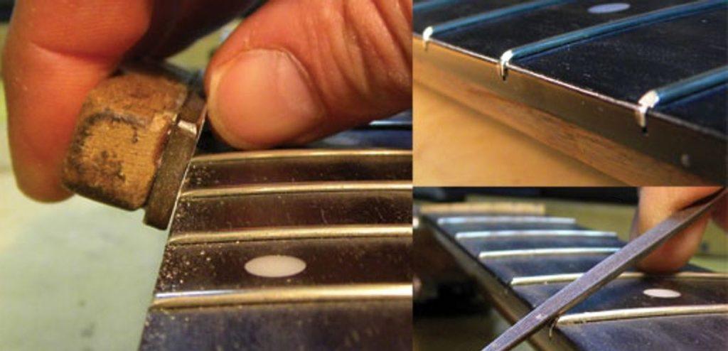 ремонт ладов на акустической гитаре